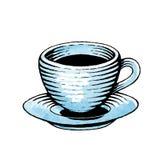 Μελάνι και σκίτσο Watercolor ενός φλυτζανιού καφέ Στοκ φωτογραφία με δικαίωμα ελεύθερης χρήσης