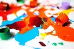 Μελάνι χρώματος για τις δερματοστιξίες Στοκ φωτογραφίες με δικαίωμα ελεύθερης χρήσης