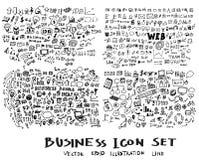 Μελάνι eps10 επιχειρησιακών doodles σκίτσων Στοκ εικόνες με δικαίωμα ελεύθερης χρήσης