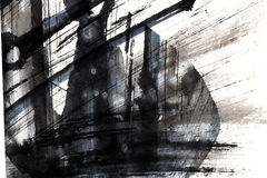 Μελάνι textutre Στοκ Εικόνα