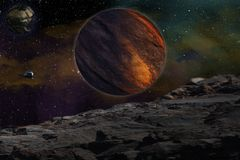 Μελέτη άλλοι πλανήτης Στοκ Εικόνες