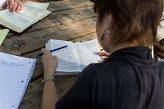 Μελέτη από πίσω Στοκ εικόνα με δικαίωμα ελεύθερης χρήσης