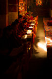 Μελέτη μοναχών στο μοναστήρι Lhasa Θιβέτ Drepung στοκ εικόνες με δικαίωμα ελεύθερης χρήσης