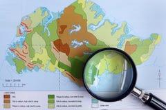 Μελέτη της έννοιας περιγραμμάτων γεωγραφίας Στοκ φωτογραφίες με δικαίωμα ελεύθερης χρήσης