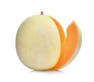 Μελίτωμα melonsunlady στο λευκό Στοκ Εικόνα