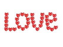 Με αγάπη από καρδιές Στοκ εικόνες με δικαίωμα ελεύθερης χρήσης