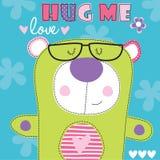 Με αγκαλιάστε teddy αντέχει τη διανυσματική απεικόνιση διανυσματική απεικόνιση