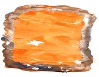 Μελανιού πορτοκαλί, μαύρο υδατόχρωμα s βουρτσών κτυπήματος watercolor αφηρημένο Στοκ φωτογραφίες με δικαίωμα ελεύθερης χρήσης