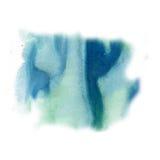 Μελανιού splatter watercolour μπλε χρωστικών ουσιών υγρή σύσταση κηλίδων σημείων watercolor μακρο που απομονώνεται στο άσπρο υπόβ Στοκ εικόνα με δικαίωμα ελεύθερης χρήσης