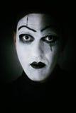 Μελαχροινός δράστης πορτρέτου mime στοκ εικόνα με δικαίωμα ελεύθερης χρήσης