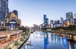 Μελβούρνη, Βικτώρια - Αυστραλία Όμορφος ορίζοντας πόλεων Στοκ εικόνες με δικαίωμα ελεύθερης χρήσης