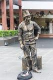 Μελβούρνη Busker - ζωντανοί διασκεδαστικοί τουρίστες αγαλμάτων στη Μελβούρνη, Αυστραλία στοκ εικόνα με δικαίωμα ελεύθερης χρήσης