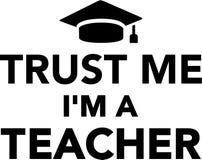 Με εμπιστευθείτε ι ` μ ένας δάσκαλος Στοκ Φωτογραφίες