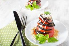 Μελιτζάνα Ð'aked με την ντομάτα Στοκ Εικόνες
