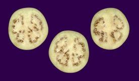Μελιτζάνα στη διατομή στοκ φωτογραφίες