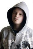 με κουκούλα εφηβικός α&ga Στοκ Εικόνα