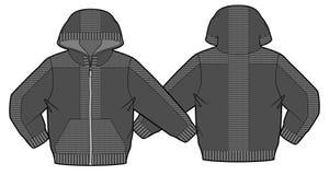 Με κουκούλα σακάκι με την περάτωση και τις τσέπες φερμουάρ Στοκ Φωτογραφίες