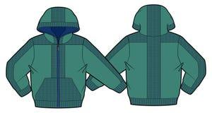 Με κουκούλα σακάκι με την περάτωση και τις τσέπες φερμουάρ Στοκ φωτογραφία με δικαίωμα ελεύθερης χρήσης