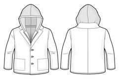 Με κουκούλα σακάκι με την περάτωση και τις τσέπες φερμουάρ Στοκ Εικόνες