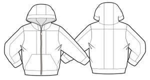 Με κουκούλα σακάκι με την περάτωση φερμουάρ Στοκ Εικόνες
