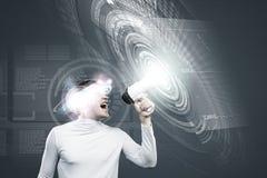 μελλοντικές τεχνολογί&ep Στοκ Φωτογραφία