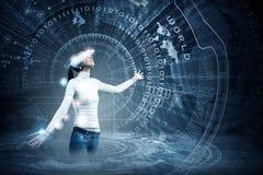 μελλοντικές τεχνολογί&ep Στοκ εικόνες με δικαίωμα ελεύθερης χρήσης