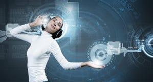 μελλοντικές τεχνολογί&ep Στοκ Εικόνες
