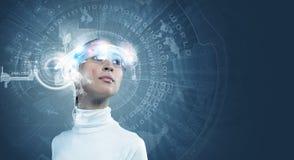 μελλοντικές τεχνολογί&ep Στοκ φωτογραφία με δικαίωμα ελεύθερης χρήσης