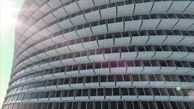 Μελλοντική αρχιτεκτονική οικοδόμηση φουτουριστική οικοδόμηση σύγχρονη Μελλοντική έννοια διανυσματική απεικόνιση