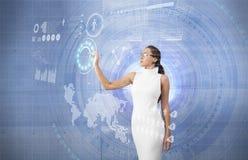 Μελλοντική διαπροσωπεία οθονών επαφής τεχνολογίας στοκ εικόνες