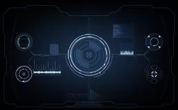 μελλοντική διαπροσωπεί&a Ψηφιακά στοιχεία Στοκ Εικόνες