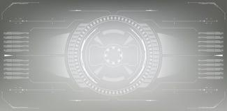 μελλοντική διαπροσωπεί&a Ψηφιακά στοιχεία Στοκ Φωτογραφίες