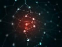 Μελλοντική τεχνολογία - σφαιρικά δίχτυα και communucation - δικτύωση Στοκ Εικόνες
