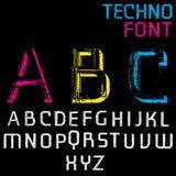Μελλοντικό αλφάβητο Techno Στοκ Εικόνα