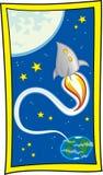 με πετάξτε φεγγάρι Στοκ Εικόνες