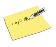 με στείλετε μήνυμα με το ηλεκτρονικό ταχυδρομείο Στοκ εικόνες με δικαίωμα ελεύθερης χρήσης