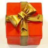 Με σχήμα κουτιού παιχνίδι σκυλιών δώρων Στοκ φωτογραφία με δικαίωμα ελεύθερης χρήσης