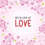 Με τα μέρη του χαριτωμένου διανύσματος κινούμενων σχεδίων λουλουδιών αγάπης διανυσματική απεικόνιση
