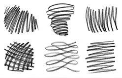 Με τα μαύρα κτυπήματα μολυβιών Στοκ Εικόνα