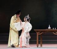 """με την ανησυχία-τρίτη πράξη αρσενικό κίτρινο κρασί-Kunqu Opera""""Madame άσπρο Snake† Στοκ Φωτογραφία"""