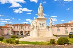 Άγαλμα της βασίλισσας Μαρία I της Πορτογαλίας Στοκ φωτογραφία με δικαίωμα ελεύθερης χρήσης
