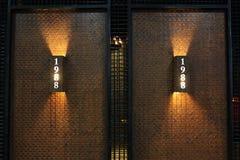 Με την ψηφιακή ένωση λαμπτήρων διακοσμήσεων στο wal Στοκ Εικόνα