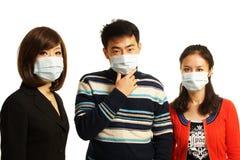 Με τις μάσκες στοκ εικόνες με δικαίωμα ελεύθερης χρήσης