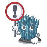 Με το μπλε φύκι σημαδιών στη μασκότ μορφής απεικόνιση αποθεμάτων
