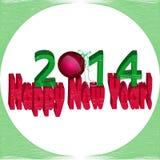 Με το νέο έτος 2014! Στοκ Εικόνες