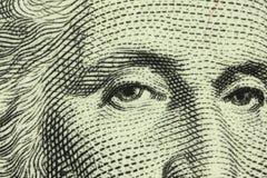 Με το πορτρέτο των λογαριασμών τεμαχίων του George Washington Στοκ φωτογραφία με δικαίωμα ελεύθερης χρήσης