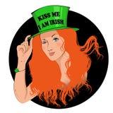Με φιλήστε εγώ είναι ιρλανδικό κορίτσι Στοκ εικόνα με δικαίωμα ελεύθερης χρήσης