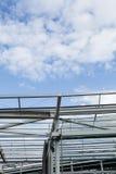 Με χαλύβδινο σκελετό κτήριο κάτω από την οικοδόμηση Στοκ Φωτογραφία