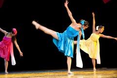 Μελωδία χρωμάτων--Λαϊκός χορός Στοκ Εικόνα