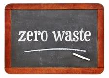Μηδέν κείμενο αποβλήτων στον πίνακα στοκ φωτογραφία με δικαίωμα ελεύθερης χρήσης